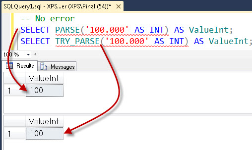 SQL SERVER - Denali - Conversion Function - TRY_PARSE() - A Quick Introduction tryparse