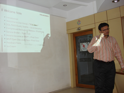 SQLAuthority Author Visit - Ahmedabad SQL Server User Group Meeting - November 2008 UGnov2