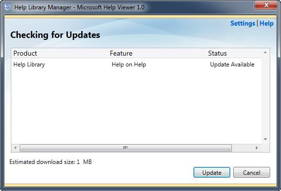 SQL SERVER - Manage Help Settings - CTRL + ALT + F1 updatehelp
