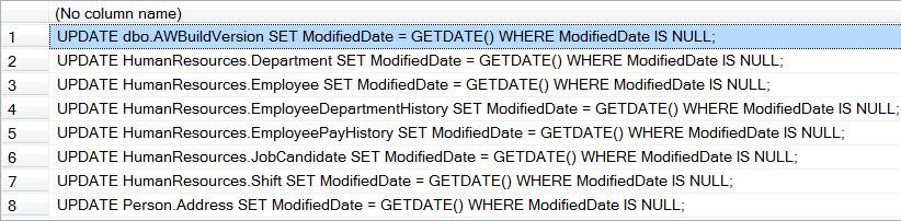 SQL SERVER - Script to Update a Specific Column in Entire Database updatescriptgen