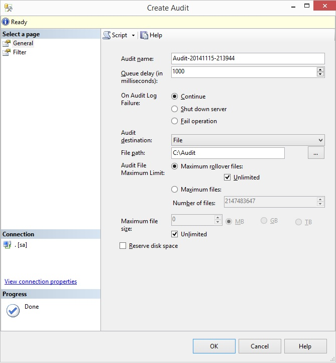 SQL SERVER - User Defined Audit with SQL Server userdefined-audit-01