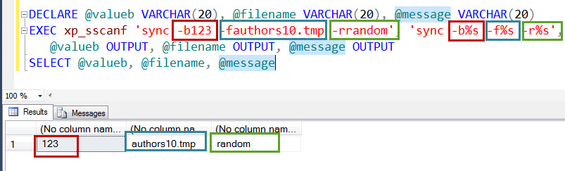 SQL SERVER - How to use xp_sscanf in Real World Scenario? xp_sscanf