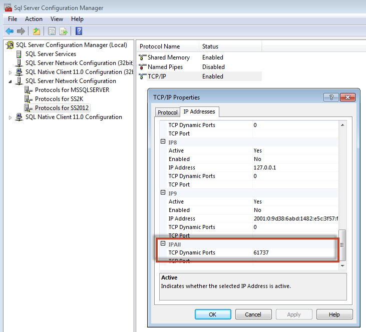 SQL SERVER - Find Port SQL Server is Listening - Port SQL Server is Running xpport4
