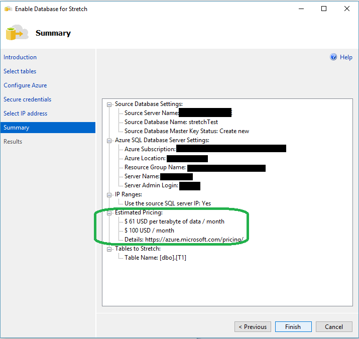 SQL SERVER 2016 - How to Use SQL Server 2016 – Stretch Database - Notes from the Field #127 127-11