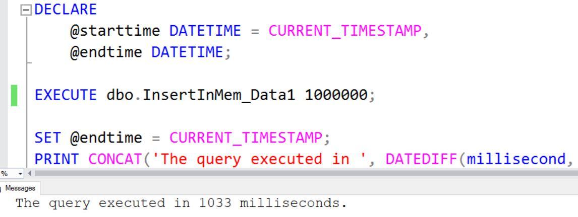 SQL Server - InMemory OLTP Hash Collisions Performance Overhead InMem-hash-collision-perf-01