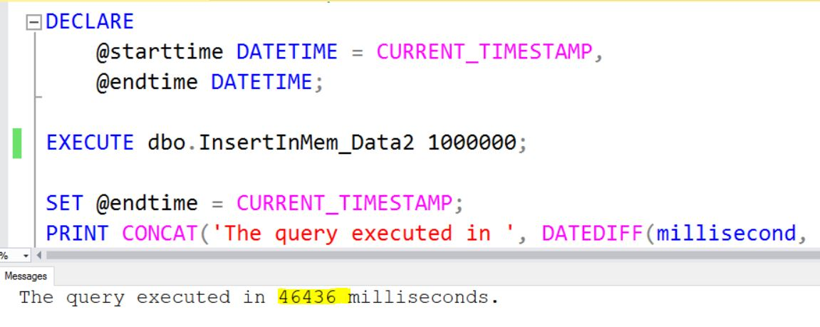 SQL Server - InMemory OLTP Hash Collisions Performance Overhead InMem-hash-collision-perf-02