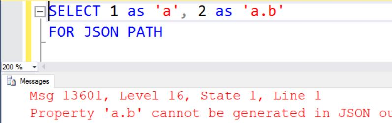SQL SERVER - Error Fix: Msg 13601 Working with JSON Structure - SQL