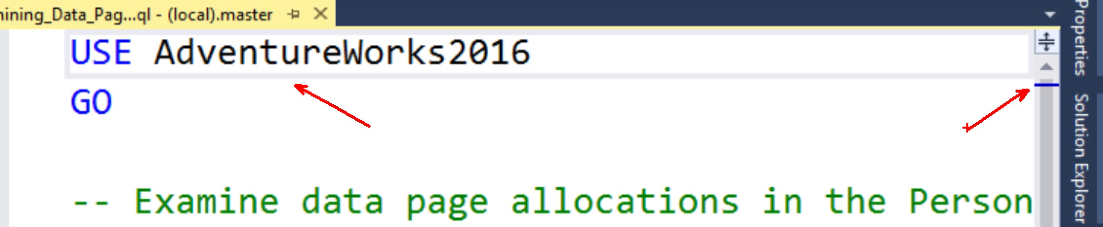 SQL SERVER 2016 - Management Studio Highlighting Current Line Option Line-highligted-01