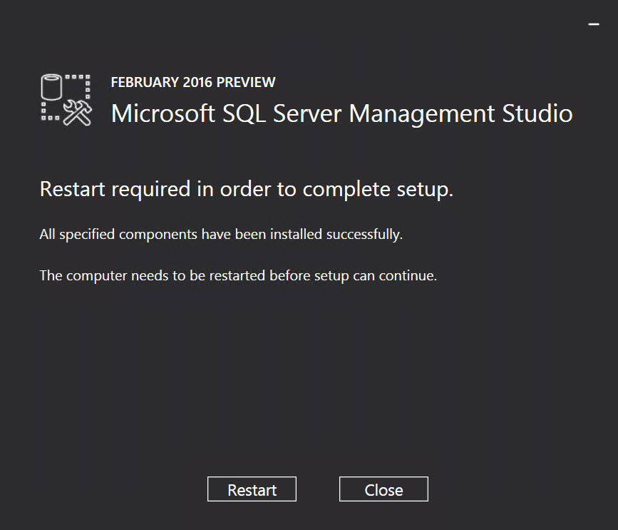 SQL SERVER - Installing SQL Server Management Studio 2016 - Step by Step SSMS-2016-06