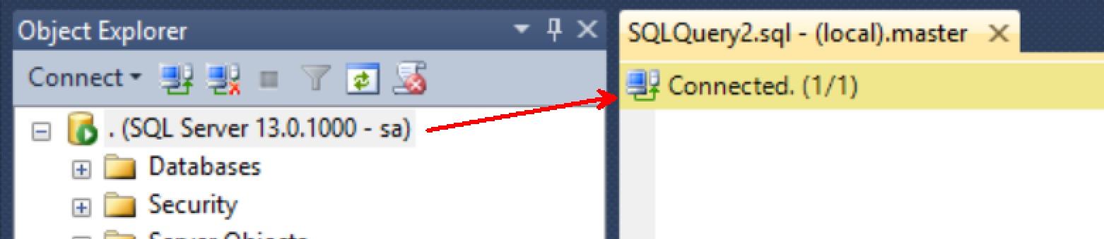 SQL SERVER - Management Studio - Changing Status Bar Location Status-bar-002