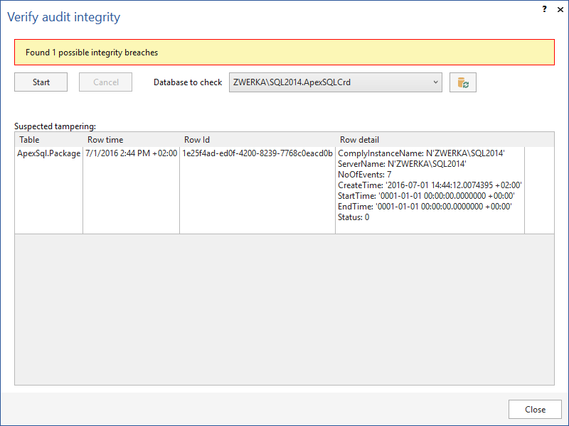 SQL SERVER - Database Auditing and Compliance apexaudit1
