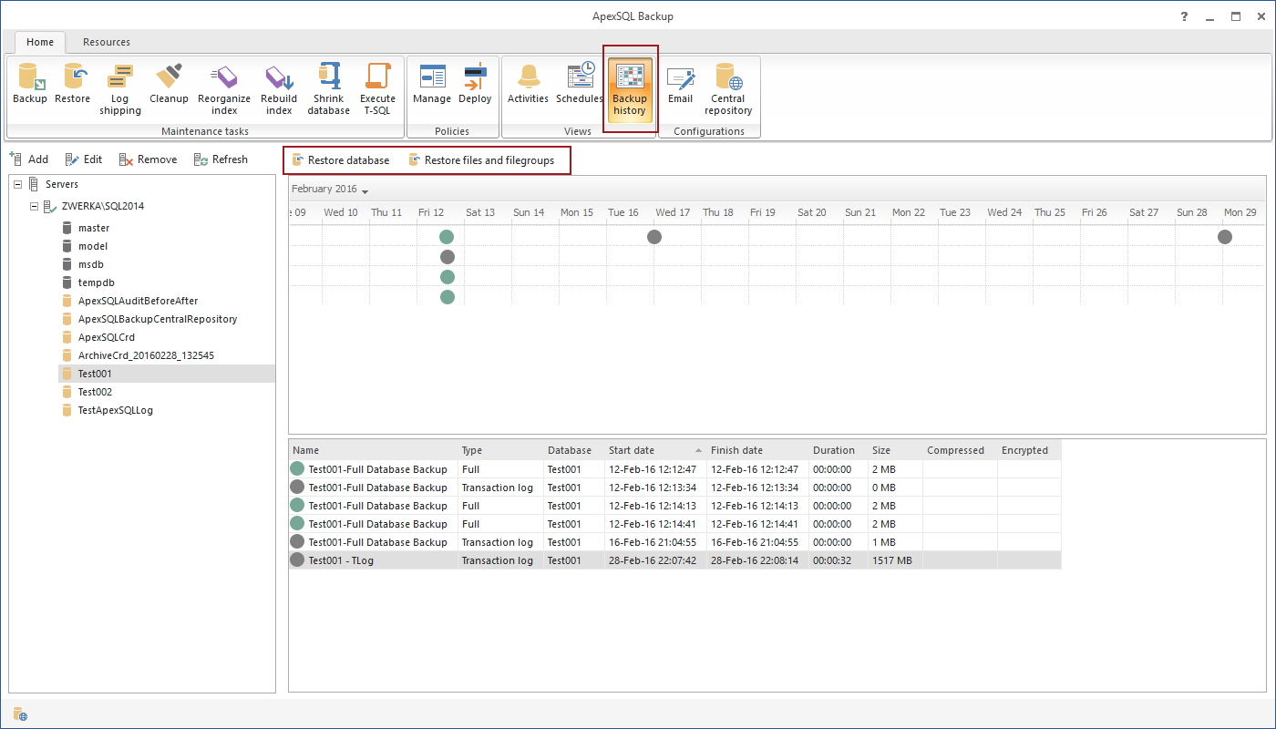 SQL SERVER - Database Backup and Restore Management and Automation with ApexSQL Backup apexbackup8