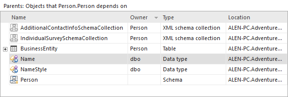 SQL SERVER - Tracking Database Dependencies apextracking4