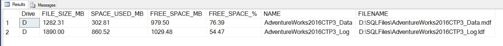 SQL SERVER - How Much Free Space I Have in My Database? database-size-01