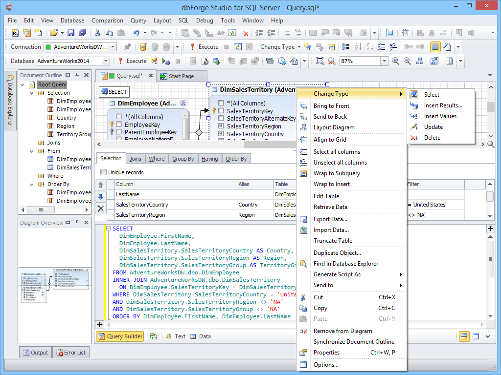 dbForge Studio for SQL Server - Ultimate SQL Server Manager Tool from Devart dbforge11
