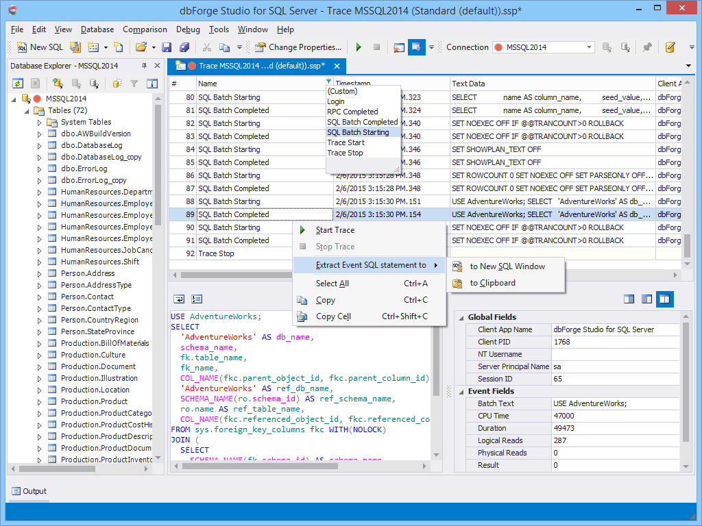 dbForge Studio for SQL Server - Ultimate SQL Server Manager Tool from Devart dbforge12