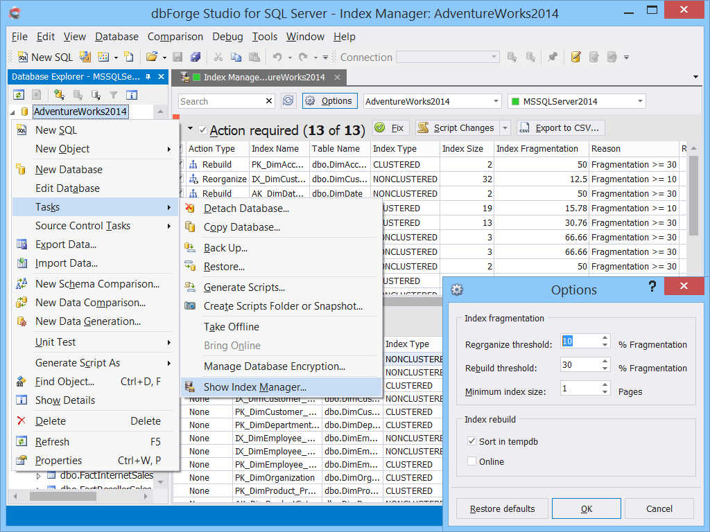 dbForge Studio for SQL Server - Ultimate SQL Server Manager Tool from Devart dbforge3