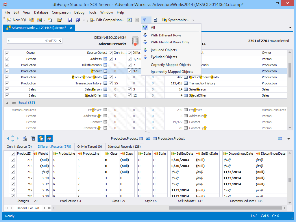 dbForge Studio for SQL Server - Ultimate SQL Server Manager Tool from Devart dbforge9