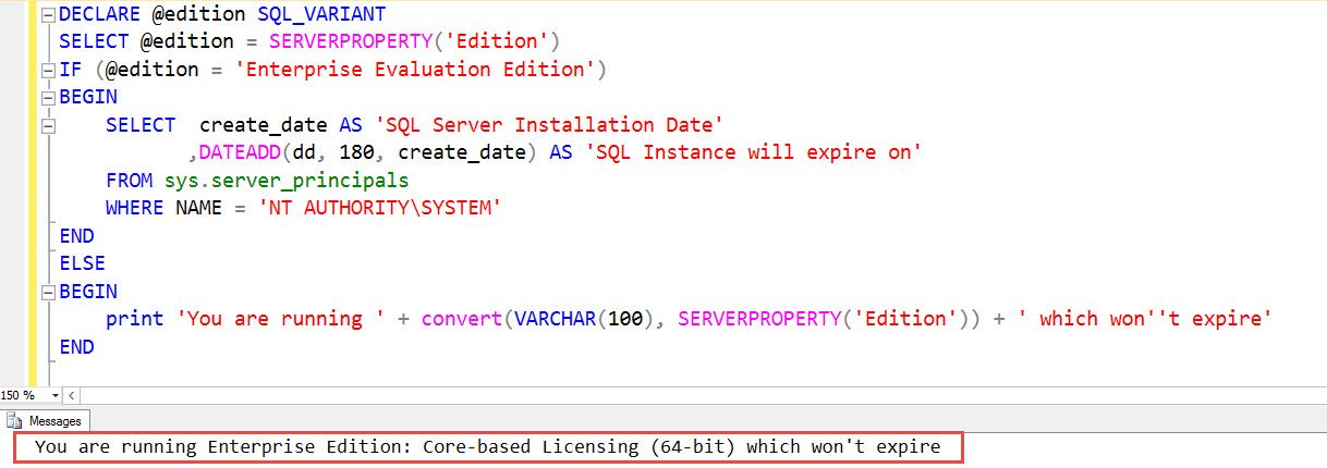 SQL SERVER 2016 - Find Expiry Date of Developer Edition dev-expire-01
