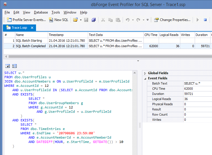 SQL SERVER - SQL Profiler vs Extended Events devext1