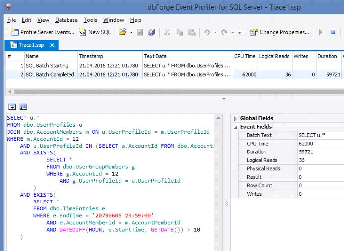 SQL SERVER - SQL Profiler vs Extended Events devext1