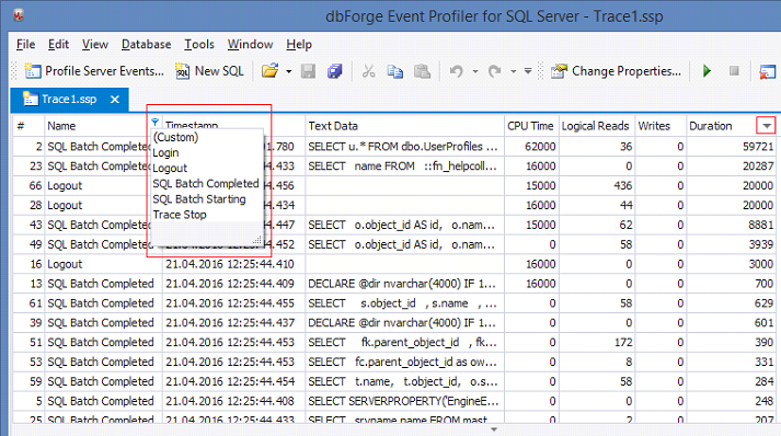 SQL SERVER - SQL Profiler vs Extended Events devext2