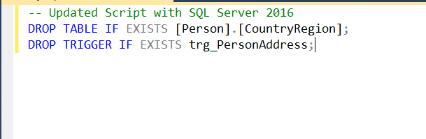 "SQL Server - T-SQL Enhancement ""Drop if Exists"" clause dropifexists"