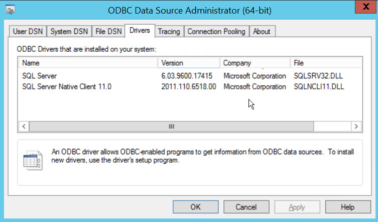 SQL SERVER - Unable to bring resource online. Error - Data source name not found and no default driver specified ds-03