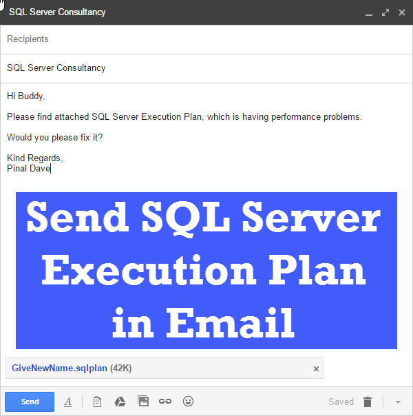 How to Send Execution Plan in Email? - Interview Question of the Week #079 execplanemail6