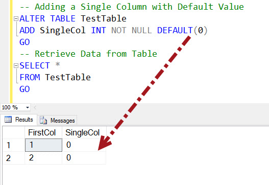 Sql server how to add multiple new columns to table with - Alter table change column type ...