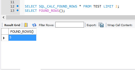MySQL - FOUND_ROWS() Function for Total Number of Rows Affected mysqlrowcount1