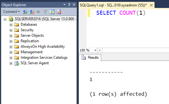 SQL SERVER - Where is Rows Affected in Output? nocount-01