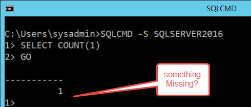 SQL SERVER - Where is Rows Affected in Output? nocount-02
