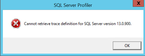 SQL SERVER - FIX: SQL Profiler Error - Cannot Retrieve Trace Definition for SQL Server Version profiler-err-02