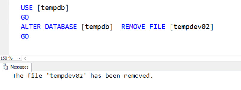 SQL SERVER - Error Msg 5042, Level 16 – The File 'tempdev02' Cannot be Removed Because it is Not Empty remove-fail-03