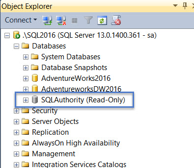 SQL SERVER - FIX Error 5120 - Database is in Read Only Mode