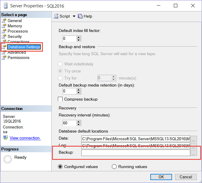 SQL SERVER - Error: Property BackupDirectory is Not Available for Settings smo-03