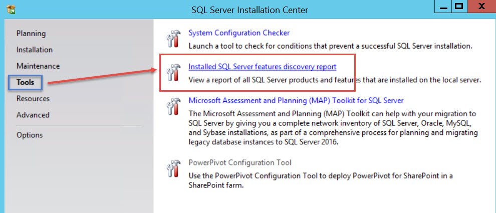 SQL SERVER - Discovery Report - How to Find Information About Installed Features? sql-dis-02