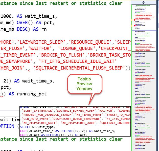 SQL SERVER 2016 - Scroll Bar Enhancement in Management Studio (SSMS 2016) sql16-scroll-bar-04
