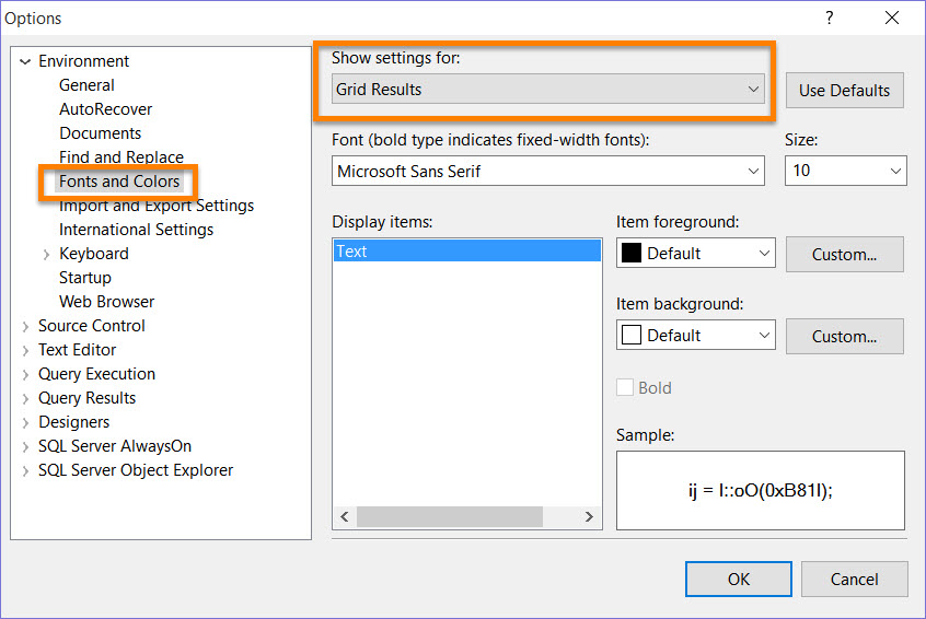 SQL SERVER - How to Increase the SSMS Grid Font Size? - SQL