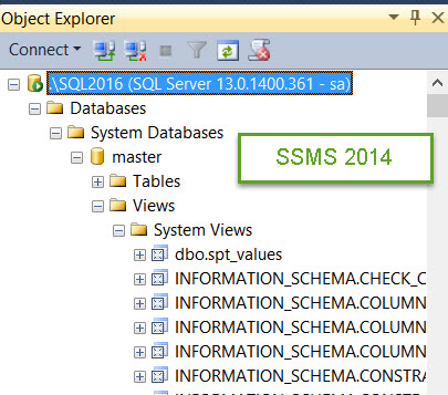 SQL SERVER - System Objects Not Visible in SQL Server Management Studio sys-missing-02