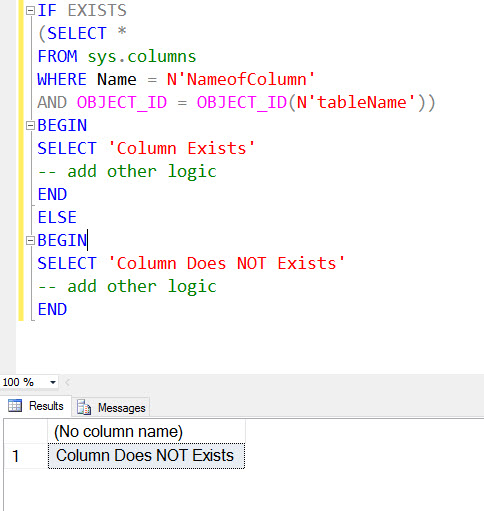 SQL SERVER - Validating Unique Column Name Across Whole Database unique-column-name2