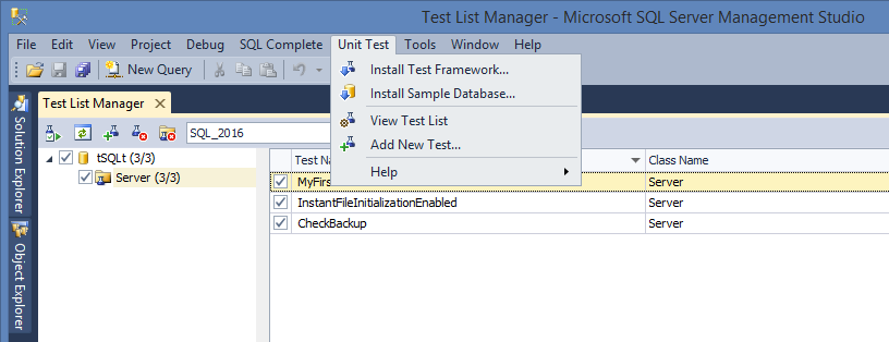 Creating and Running an SQL Server Unit Test - Best Ways to Test SQL Queries unittest1