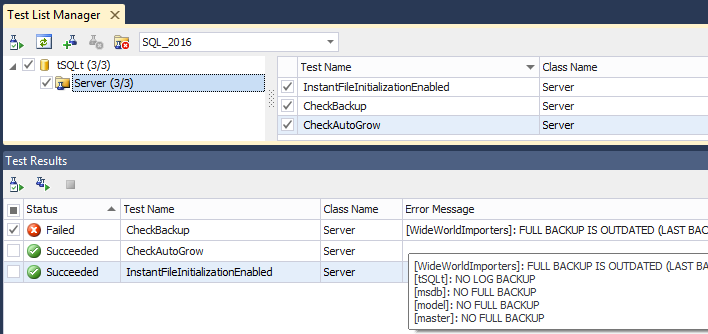 Creating and Running an SQL Server Unit Test - Best Ways to Test SQL Queries unittest3