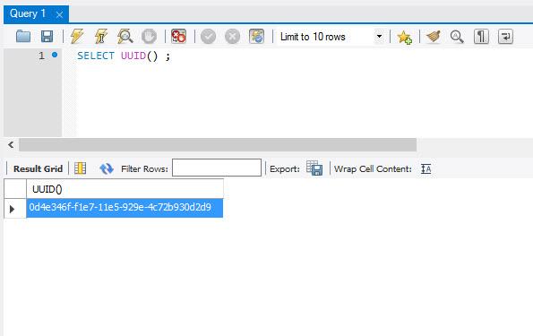 MySQL - How to Generate Random Number uuid