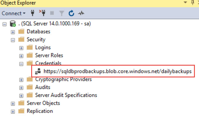 SQL SERVER - Backup to URL - Script to Generate Credential and Backup using Shared Access Signature (SAS) Backup-SAS-Script-04