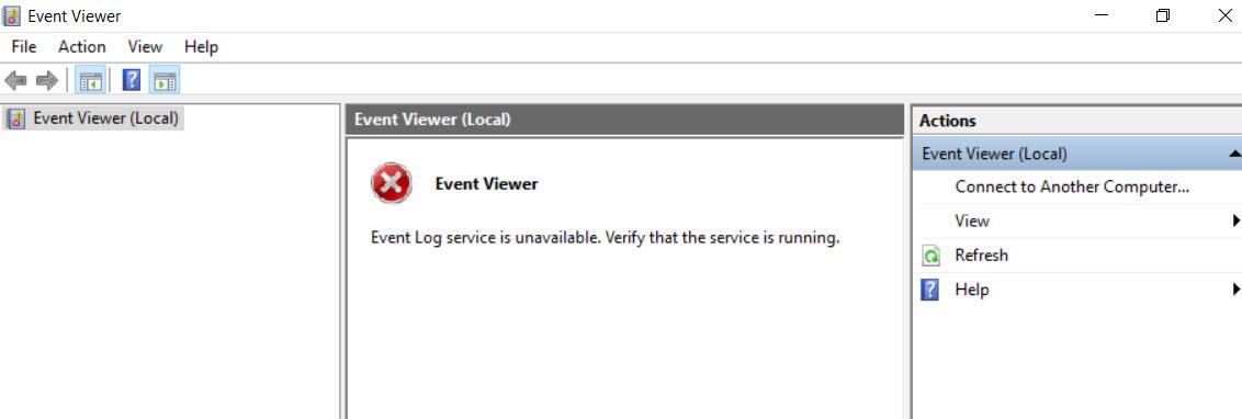 SQL SERVER - SQL Agent Not Starting. The EventLog Service has Not Been Started EvtVwr-01