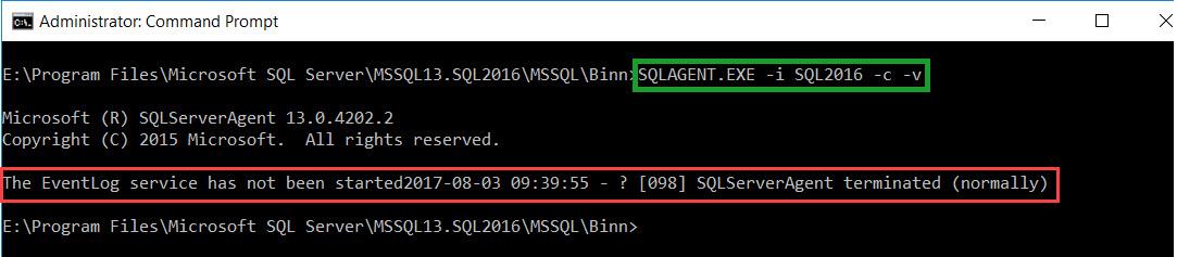 SQL SERVER - SQL Agent Not Starting. The EventLog Service has Not Been Started EvtVwr-02