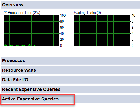 SQL SERVER - Activity Monitor - Active Expensive Queries activitymonitor2