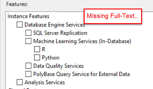 SQL SERVER - Unable to Add Node - Could not find subkey System \ CurrentControlSet \ Services \ MSSQLFDLauncher. Error code 0x851B0001 add-node-fts-01